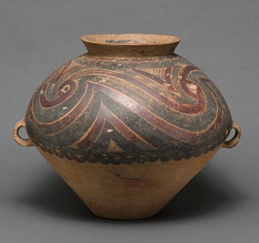 painted pottery jar with two handles anderson yangshao